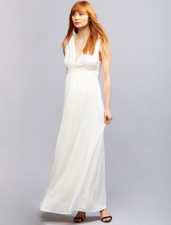 Envie de Fraise Flora Maternity Maxi Dress, WHITE