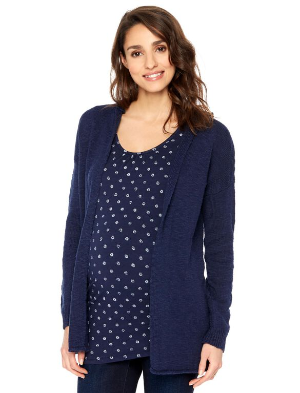 Maternity Cardigan, Navy