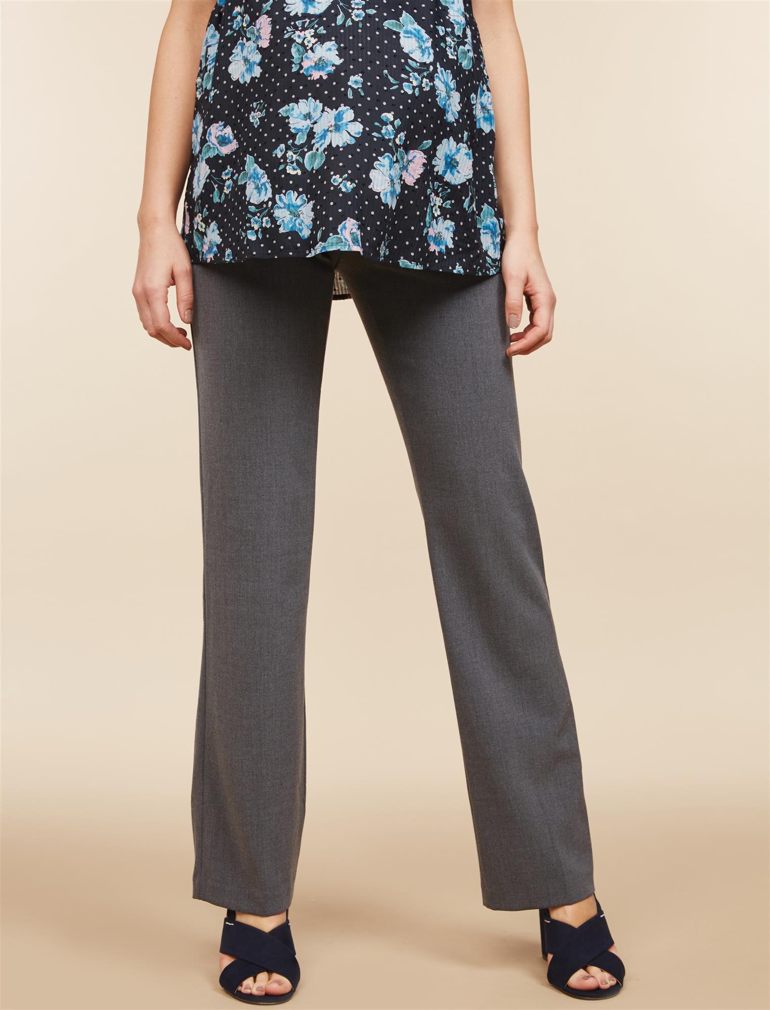 Petite Secret Fit Belly Bi-stretch Suiting Straight Leg Maternity Pants