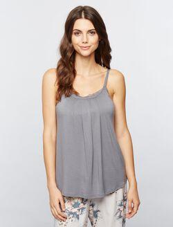 Lace Trim Nursing Cami- Solid, Gray