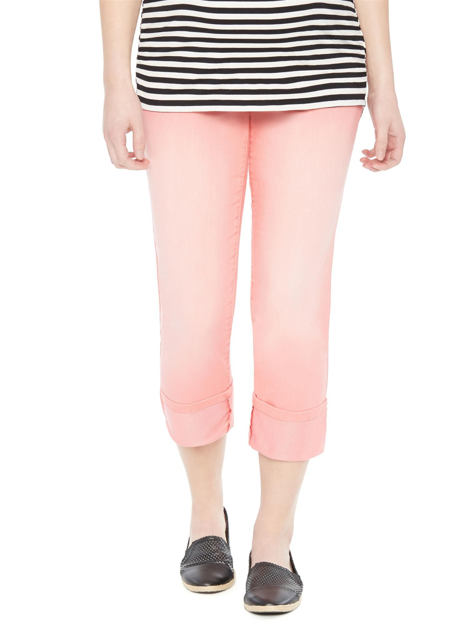 Secret Fit Belly Twill Skinny Leg Maternity Crop Pants
