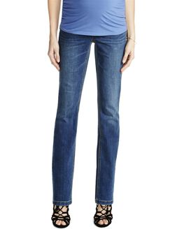 Jessica Simpson Petite Secret Fit Belly Skinny Boot Maternity Jeans, Dark Wash