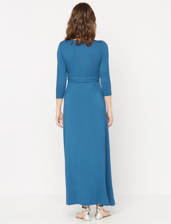 Rachel Zoe Knot Front Maternity Maxi Dress, Cobalt
