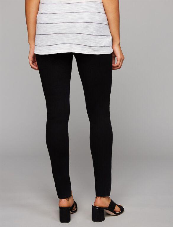 FRAME Secret Fit Belly Skinny Leg Maternity Jeans, Black