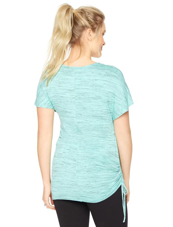 Side Tie Maternity Shirt, Mint