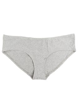 Plus Size Maternity Hipster Panties (Single), Heather Grey