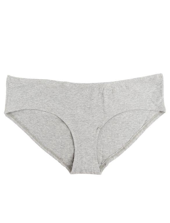 Plus Size Maternity Hipster Panties (Single), Heather Grey