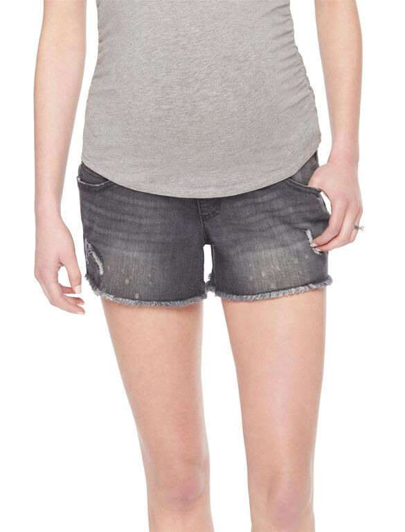 Wendy Bellissimo Secret Fit Belly Maternity Shorts, Grey