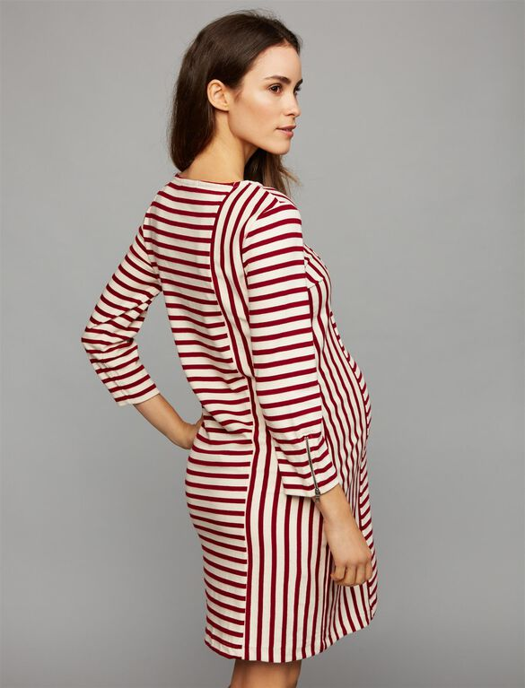 Three Dots Striped Maternity Dress, Stripe