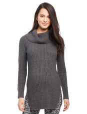 Super Soft Maternity Sweater Tunic, Charcoal