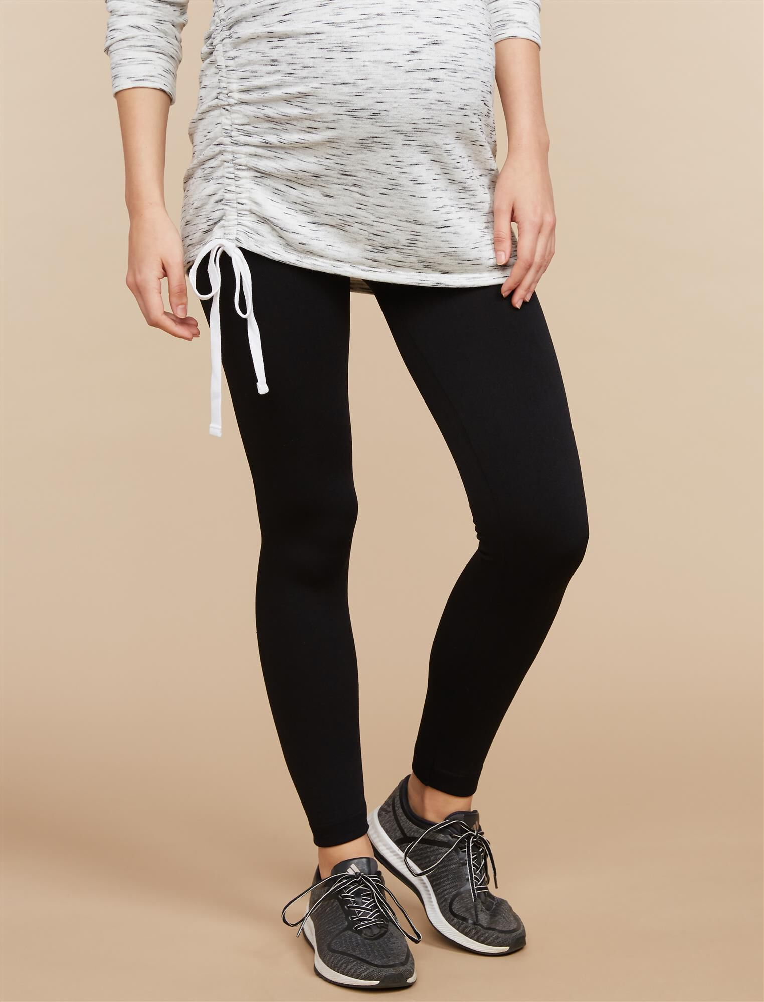 Pull On Fleece Maternity Leggings