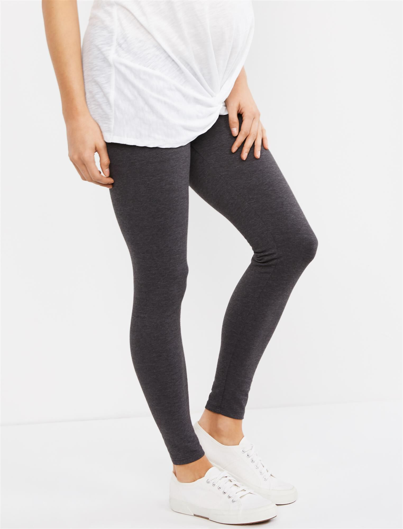 Secret Fit Belly Heathered Maternity Leggings