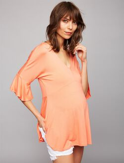 Ella Moss Bell Sleeve Maternity Top, Flame