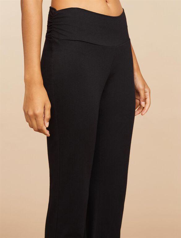 Maternity Sleep Pants- Solid, Black