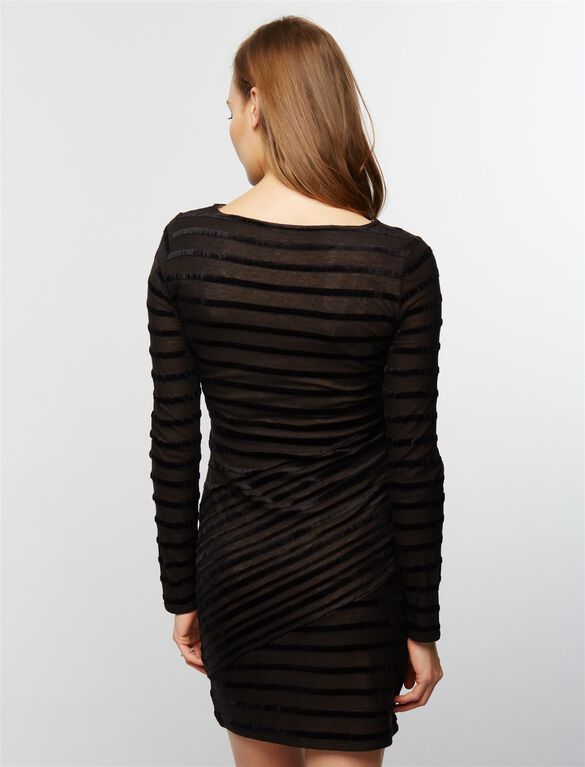 BCBGMAXAZRIA Straight Fit Maternity Dress, Black