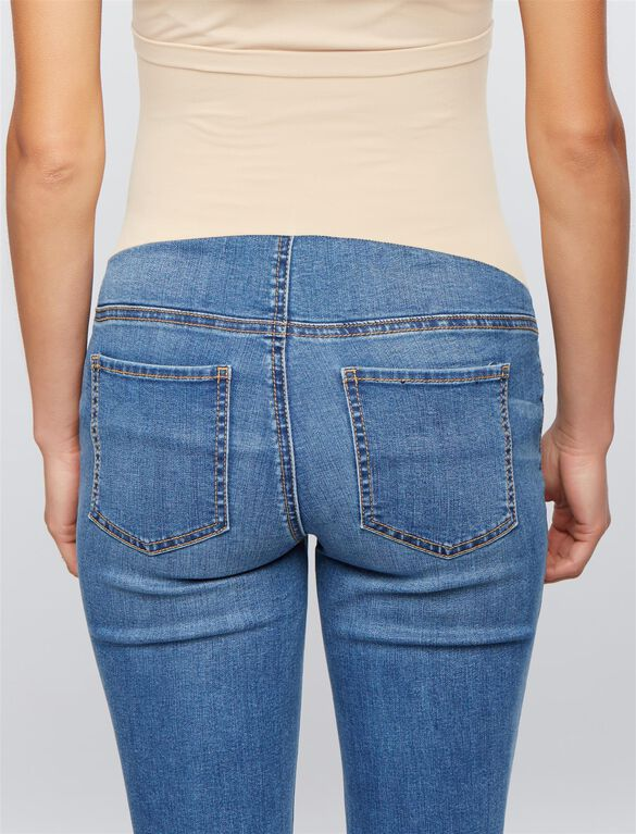 Luxe Essentials Denim Secret Fit Belly Kate Maternity Jeans, Med Wash