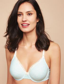 Full Coverage Full Coverage Nursing Bra, HeatherBlue