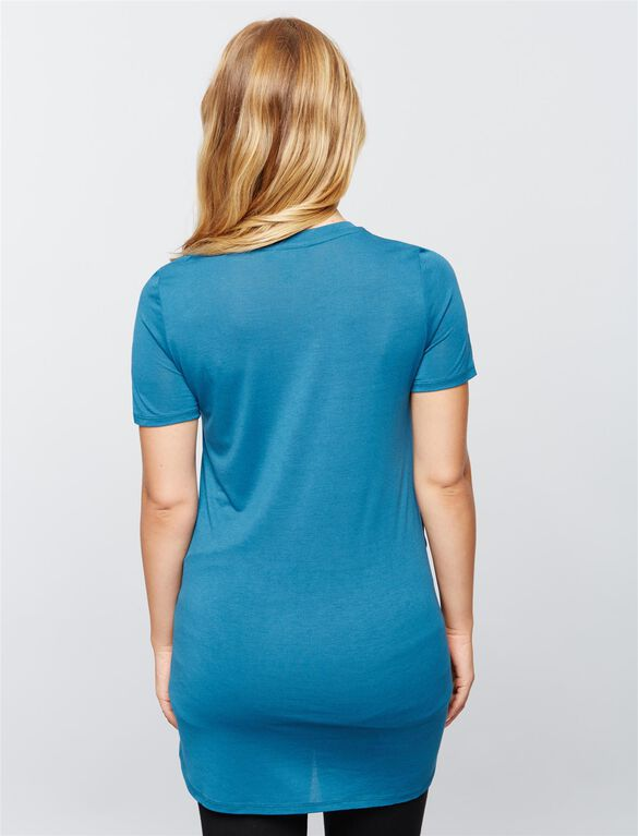 Soft Knit Maternity Top, Cool Teal