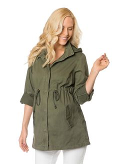 Wendy Bellissimo Maternity Anorak, Olive