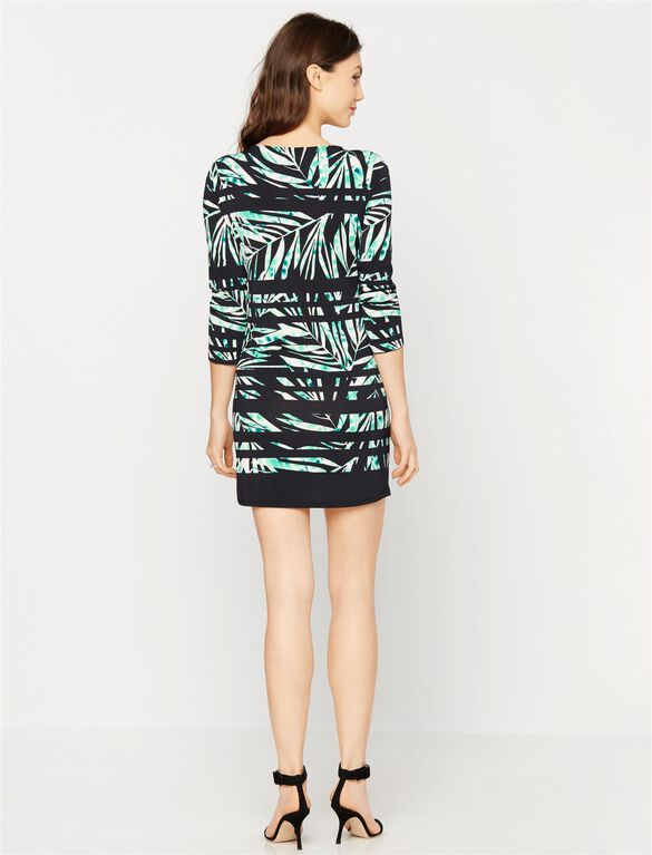 BCBGMAXAZRIA Palm Printed Maternity Dress, Multi Print