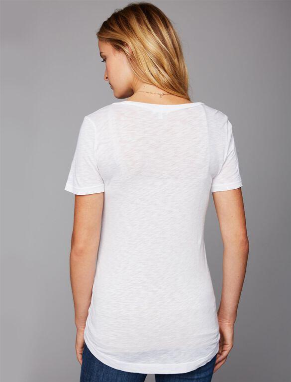 Splendid Super Soft Maternity T Shirt, White