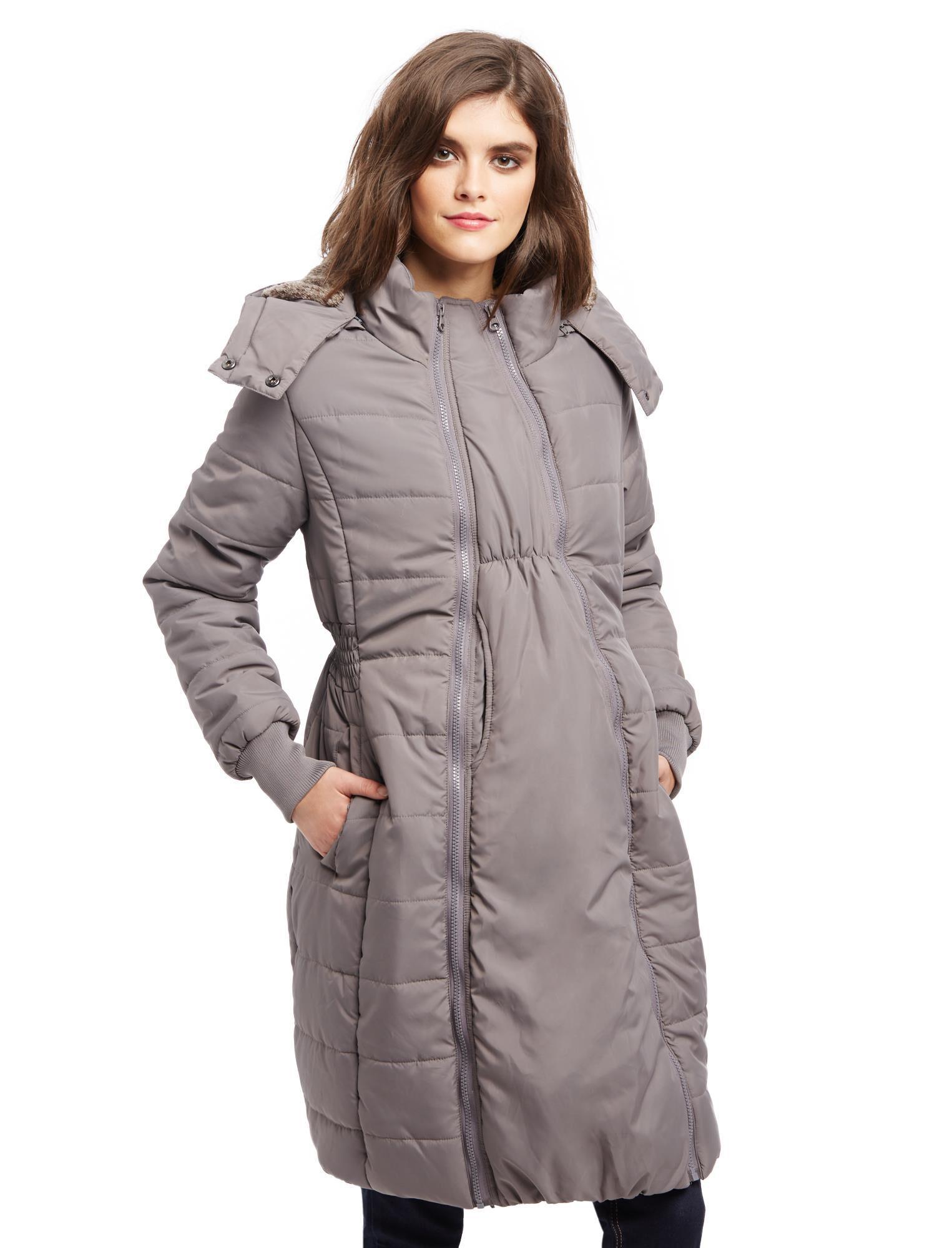 Modern Eternity 3 In 1 Knee Length Maternity Puffer Coat