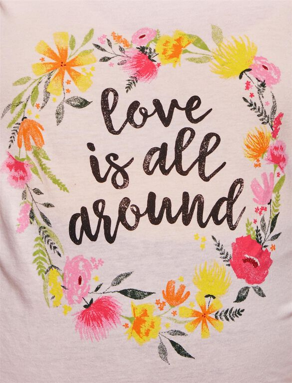 Love Is All Around Maternity Tee, Pink