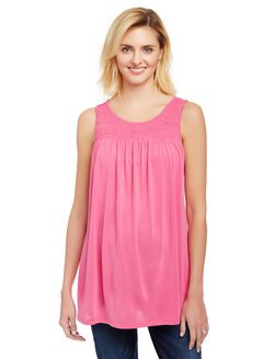 Keyhole Detail Maternity Tank Top, Fuchsia Purple