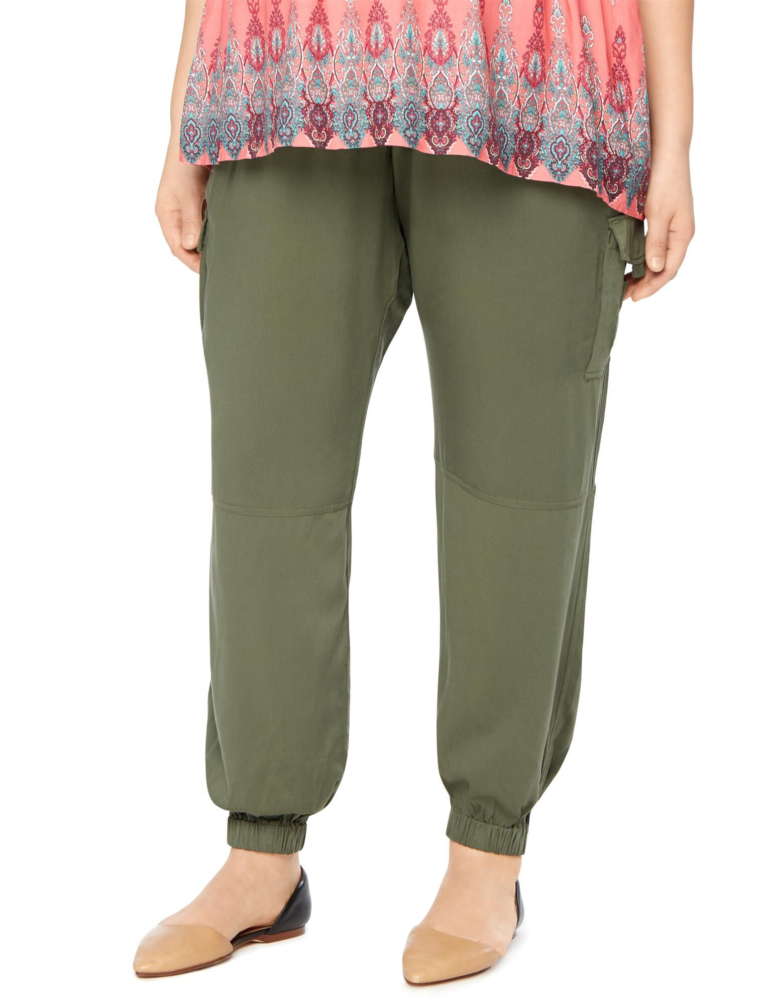 Plus Size Secret Fit Belly Cargo Maternity Jogger Pant