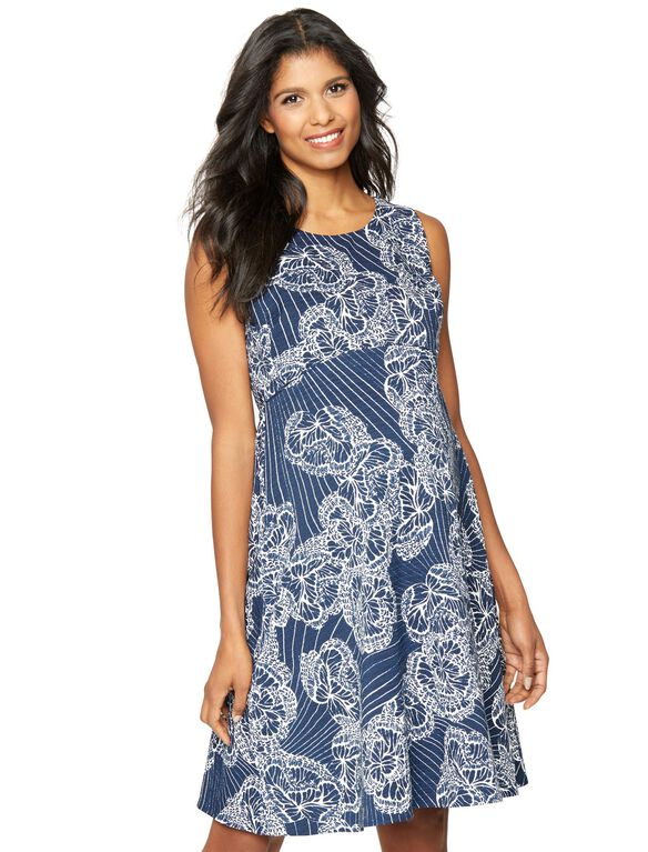 A-line print Maternity Dress, Multi Print