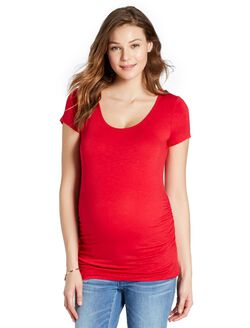 Jessica Simpson Cross Back Maternity Tee, Red