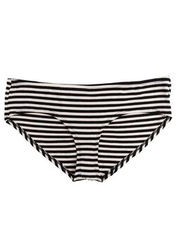 Plus Size Maternity Hipster Panties (Single), Black & Pink Stripe