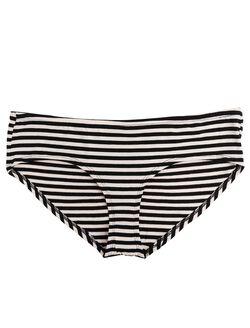 Plus Size Maternity Hipster Panties (Single), Black & Pink Stripe