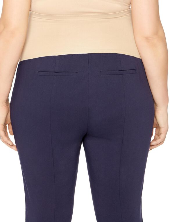 Plus Size Secret Fit Belly Tech Twill Skinny Leg Maternity Pants, Navy