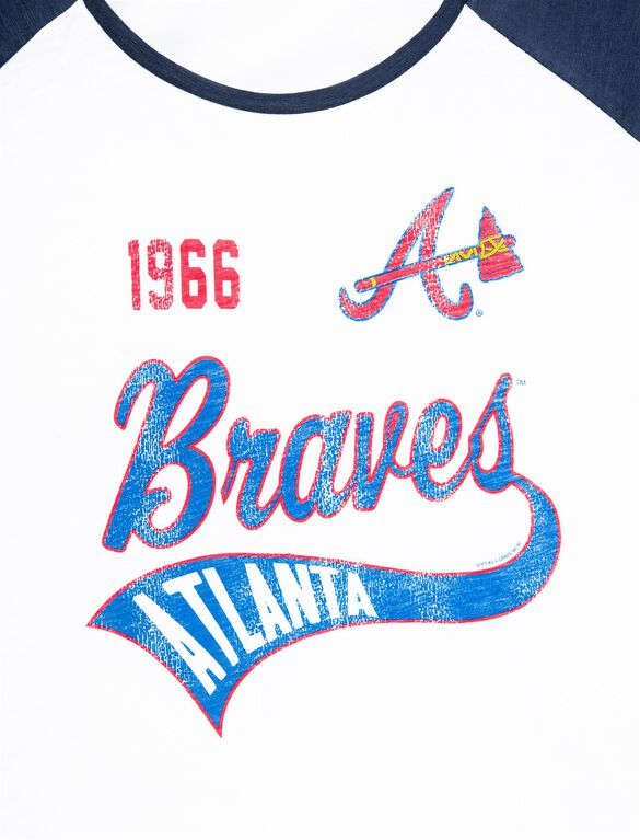 Atlanta Braves MLB Raglan Sleeve Maternity Graphic Tee, Braves