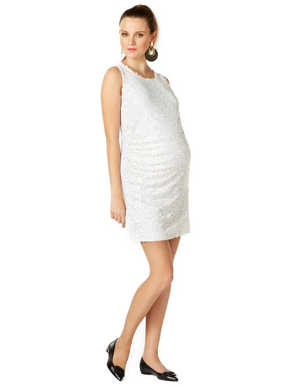 Rachel Zoe Sequin Maternity Dress, White