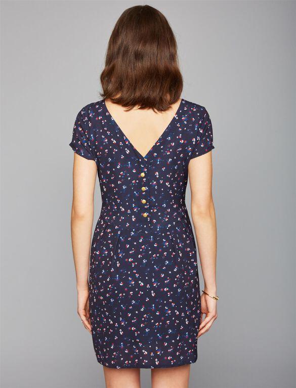 Envie De Fraise Back Interest Maternity Dress, Flower Print