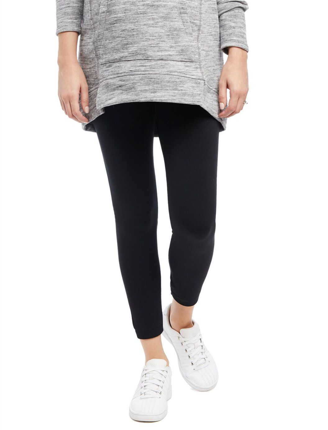 No Belly Belly Maternity Leggings- Black at Motherhood Maternity in Victor, NY | Tuggl