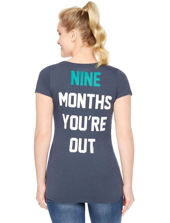 Seattle Mariners MLB Short Sleeve Maternity Tee, Mariners