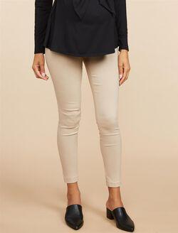 Secret Fit Belly Skinny Ankle Maternity Pants, Khaki
