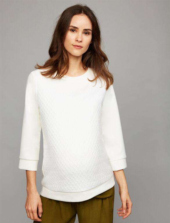 Pietro Brunelli Jacquard Maternity Sweatshirt, White