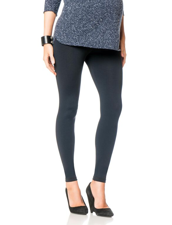 David Lerner Secret Fit Belly Maternity Leggings- Black, Black