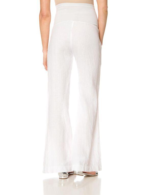 Secret Fit Belly Twill Skinny Leg Maternity Pants, White