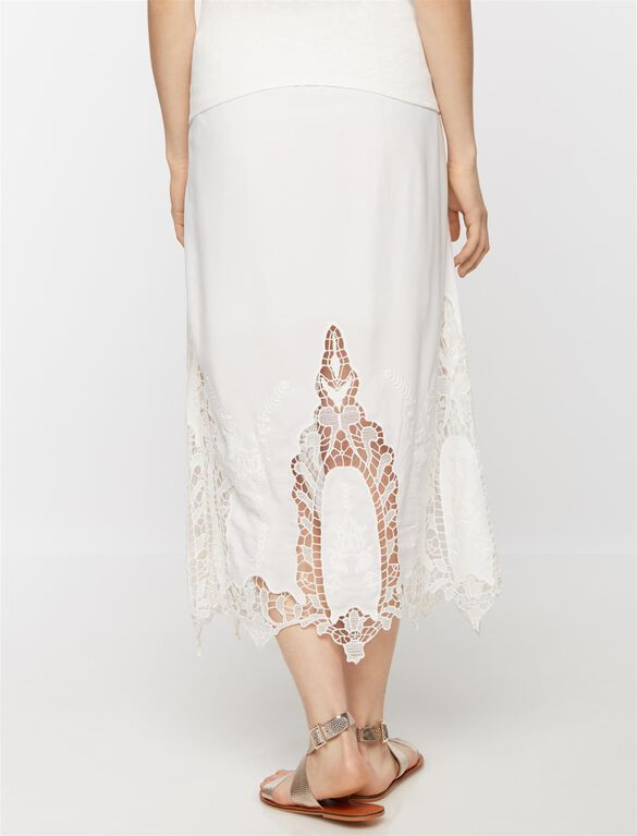 Secret Fit Belly Lace Maternity Skirt, Off White