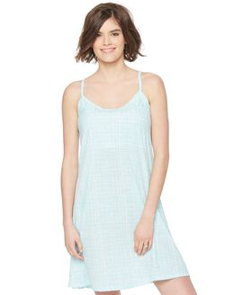 Bump In The Night Racerback Nursing Nightgown, Gingham Mint