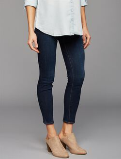 Luxe Essentials Denim Under Belly Ankle Maternity Jeans, Rinse Wash