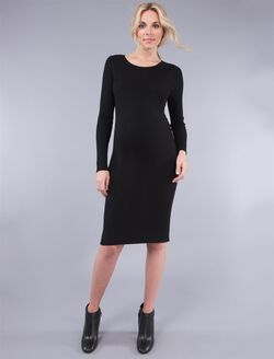 Seraphine Maternity Dress, Black