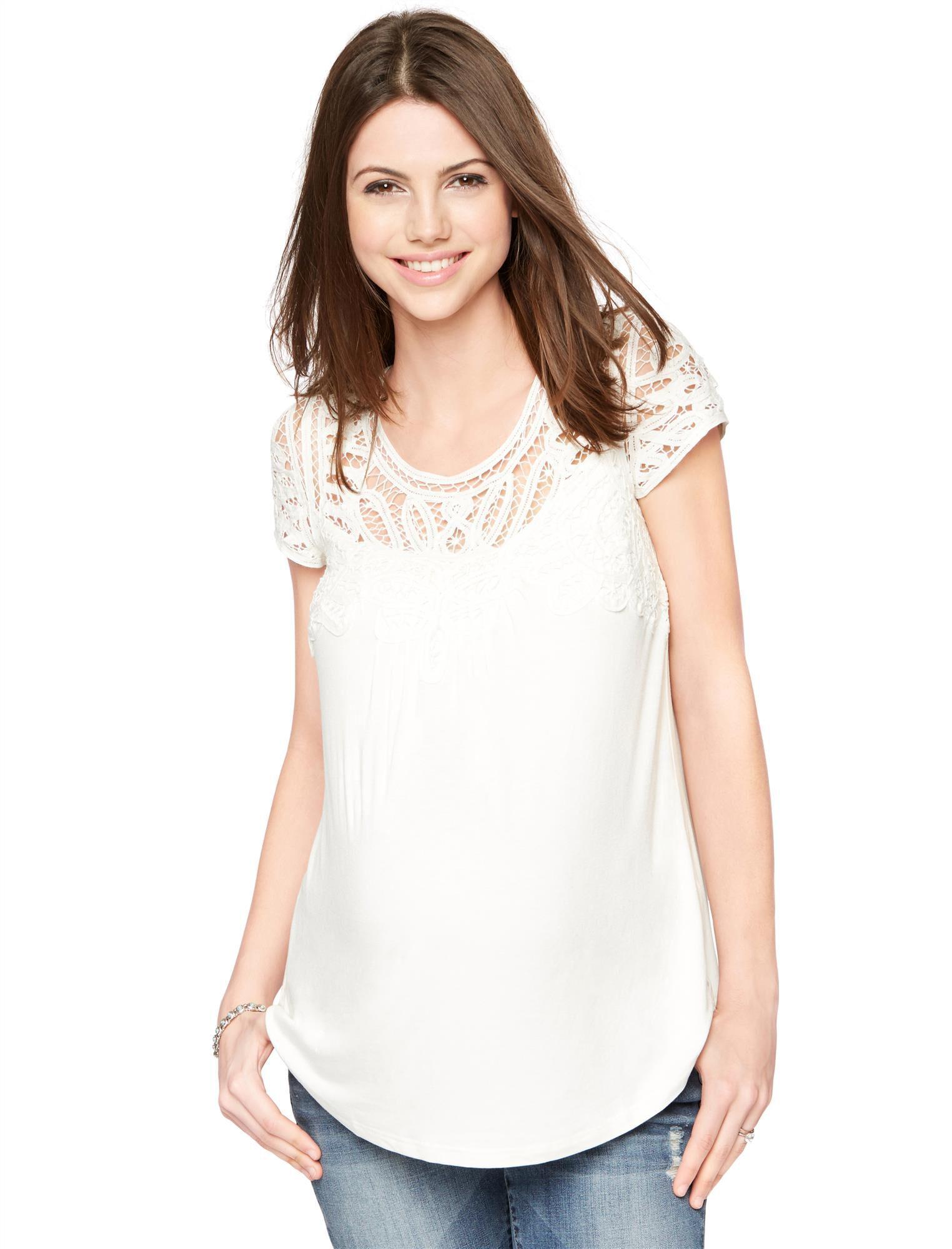 Daniel Rainn Button Detail Maternity T Shirt