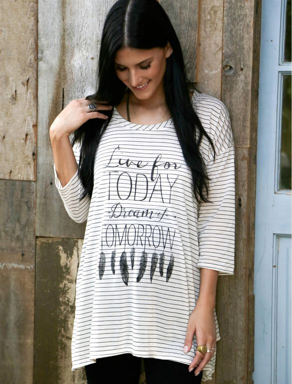 Wendy Bellissimo Live for Today Dream for Tomorrow Maternity Top, Multi Stripe