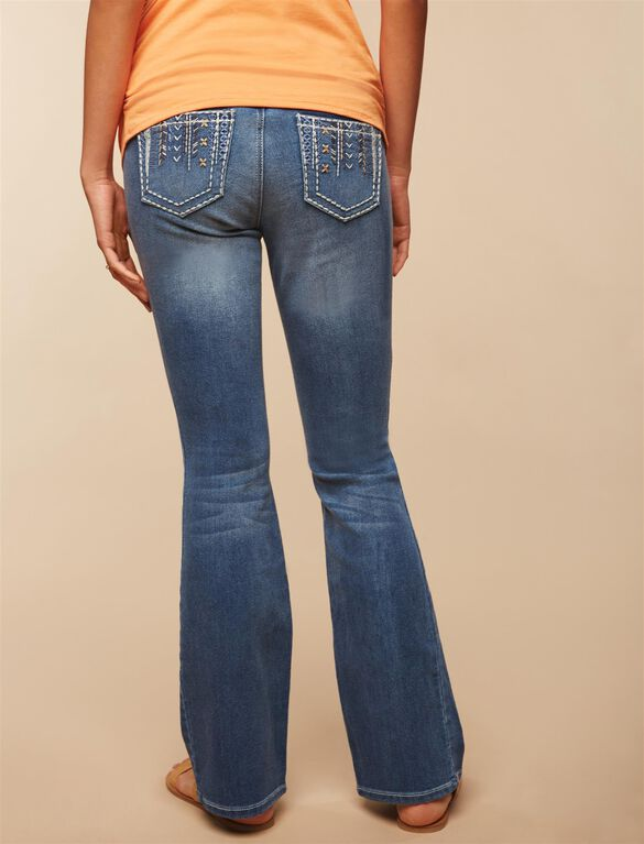 Secret Fit Belly Boot Cut Maternity Jeans, MEDIUM WASH